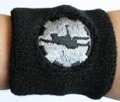 AC/DC - 'Angus Silhouette' Embroidered Sweatband
